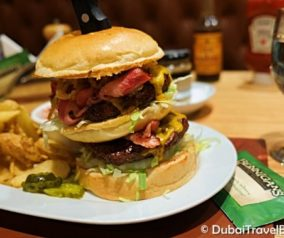The Big Irish Burger at Bennigan's in Dubai Mall