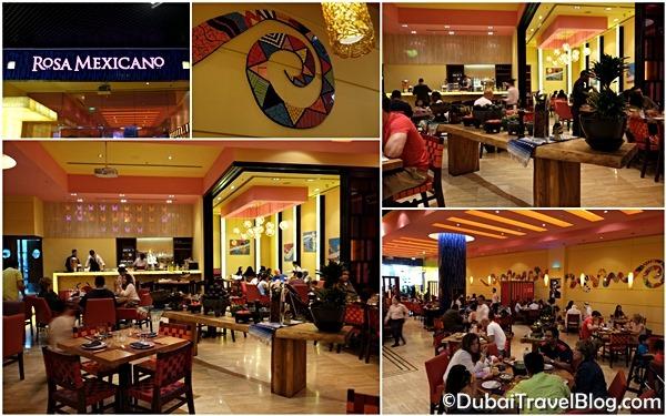 Dining at rosa mexicano dubai mall restaurant