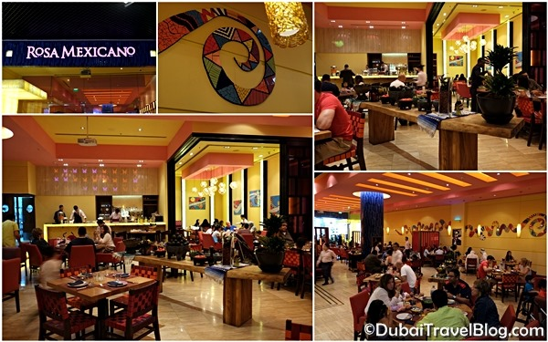 Dining at rosa mexicano dubai mall restaurant