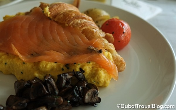 smoked salmon egg croissant madeleine