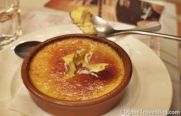 madeleine restaurant creme brulee