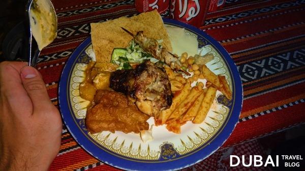 barbecue dinner desert safari