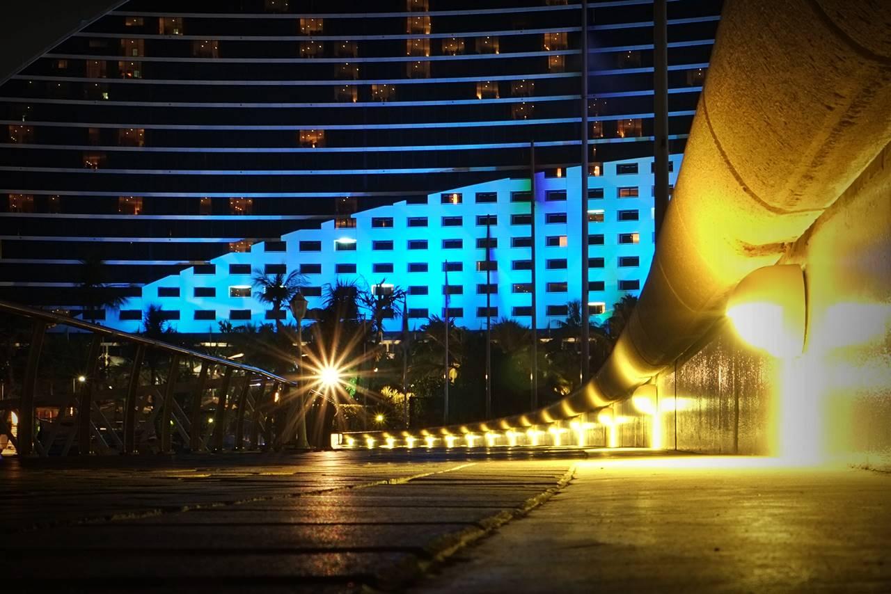 juemirah beach hotel photo night