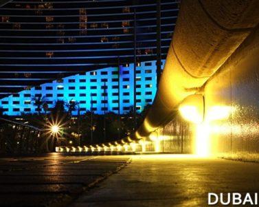 Colors of Jumeirah Beach Hotel at Night