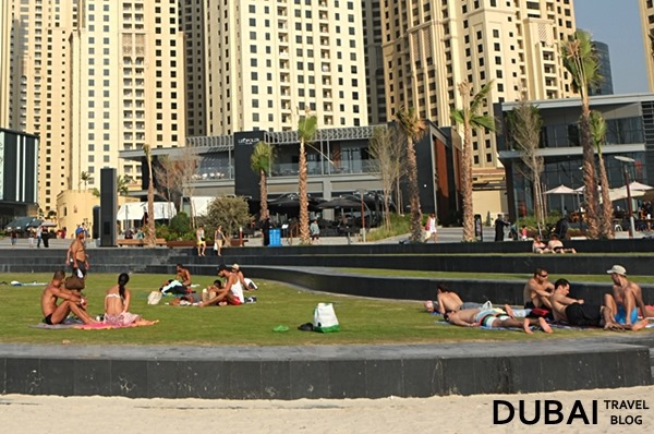 sunbathe jbr the beach