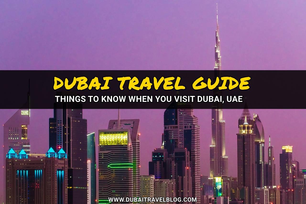 dubai travel blog guide