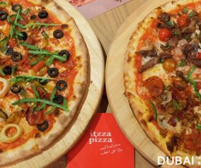 Dinner at Itzza Pizza Restaurant in Jumeirah