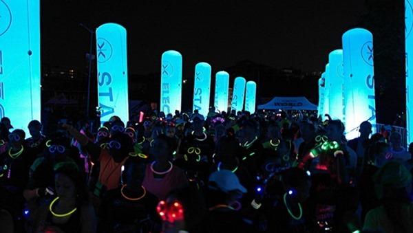 electric night run in dubai uae