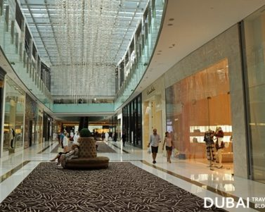 Strolling at the Fashion Avenue in The Dubai Mall
