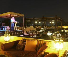 Dinner at Al Sarab Rooftop Lounge in Bab Al Shams