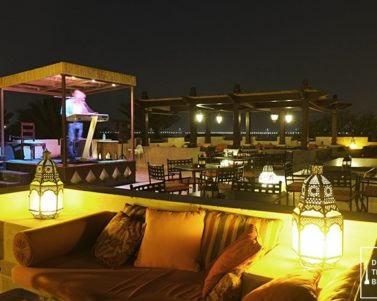 Dinner at Al Sarab Rooftop Lounge in Bab Al Shams