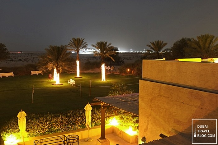 night shots in bab al shams dubai