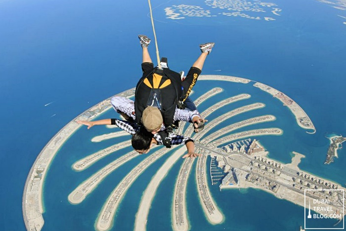 skydiving in dubai