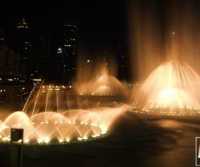 Dancing Water Fountain Show at the Burj Khalifa Lake