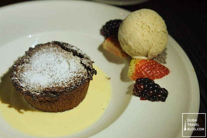 chocolate molten cake pachanga dubai