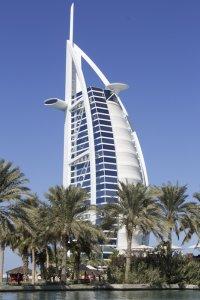 The Burj Al Arab (Tower of the Arabs) hotel