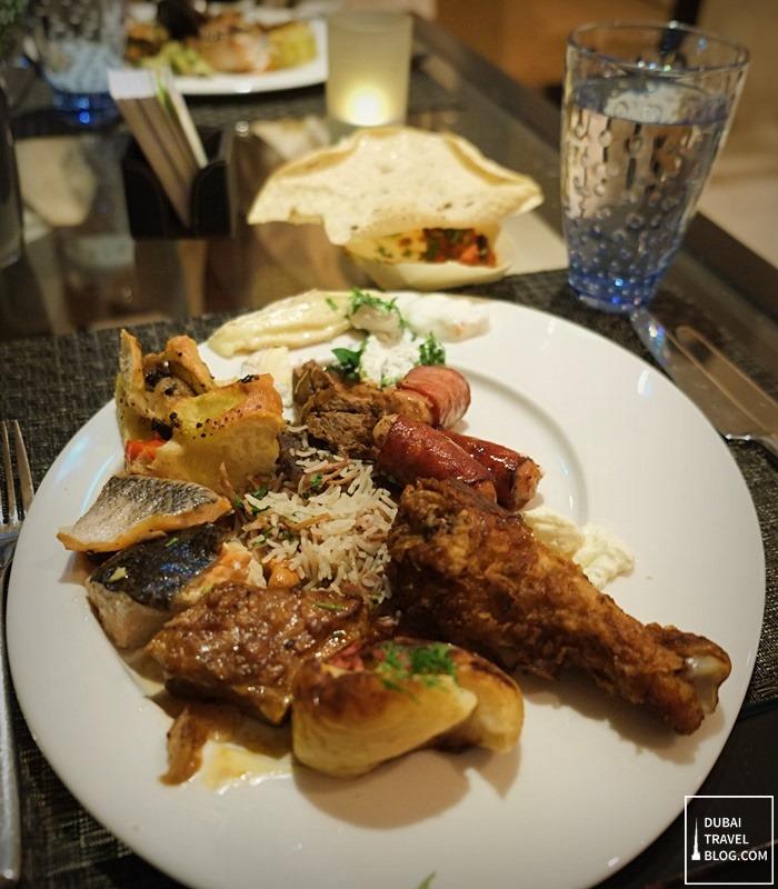 buffet at nosh restaurant jumeirah lakes towers