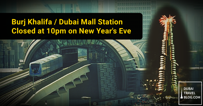 dubai metro new year 2016