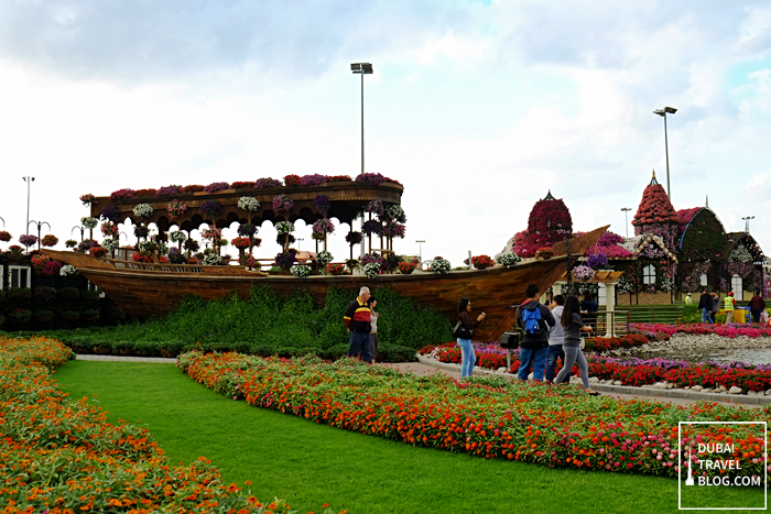boat in miracle garden dubailand