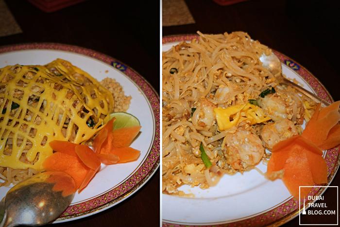 pad thai noodles with shrimp - benjarong