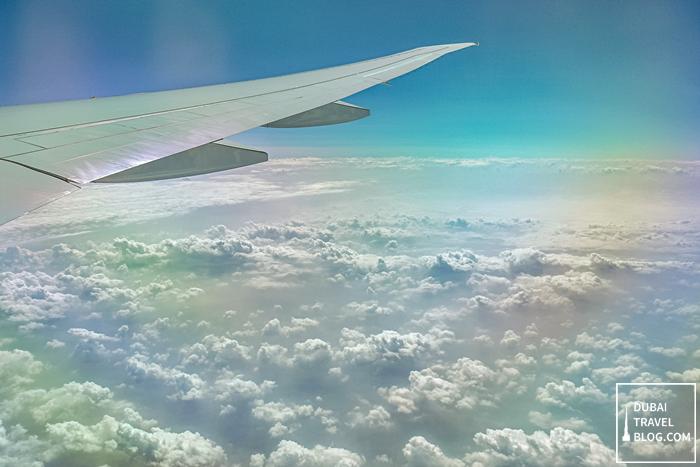 emirates plane clouds