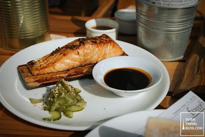 fume downtown dubai - smoked norweigan salmon