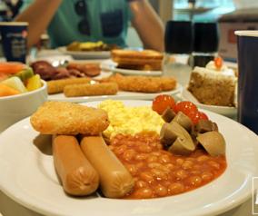 Breakfast at IKEA in Festival City