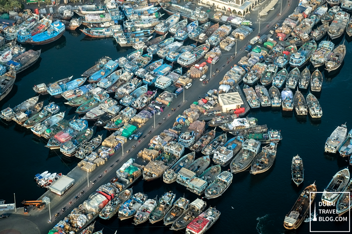 boats in deira aerial photo