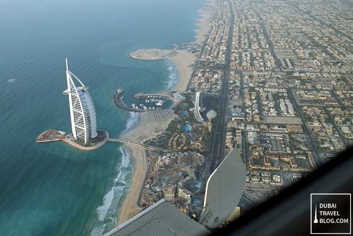 burj al arab view seaplane