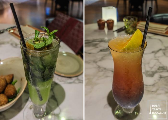 drinks at al maeda doubletree by hilton JBR