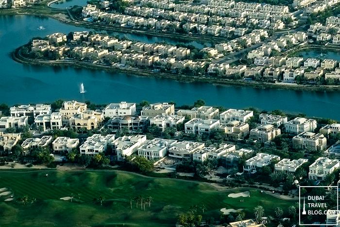 dubai aerial view communities