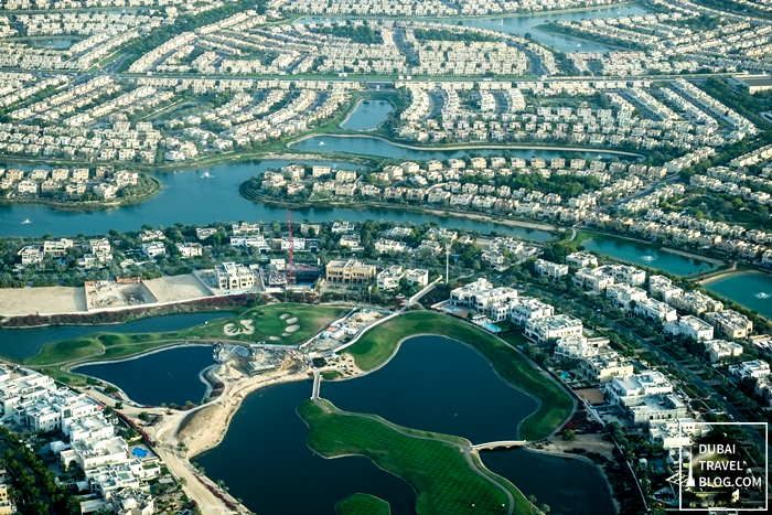 dubai community residential aerial view
