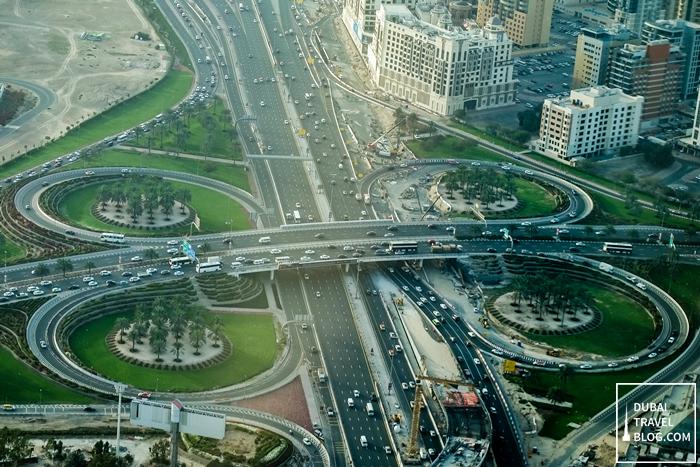 dubai highway aerial photography