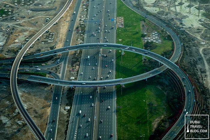 dubai road aerial photo