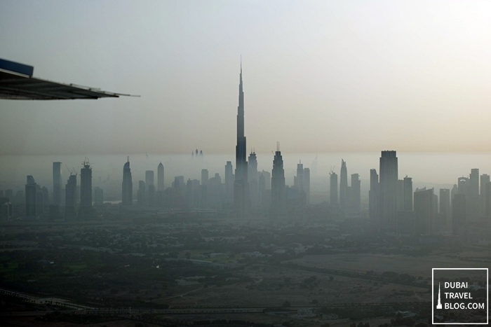 dubai skyline via seawings tour