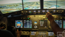 Flying a Boeing 737 via iPILOT's Flight Simulator in Dubai Mall