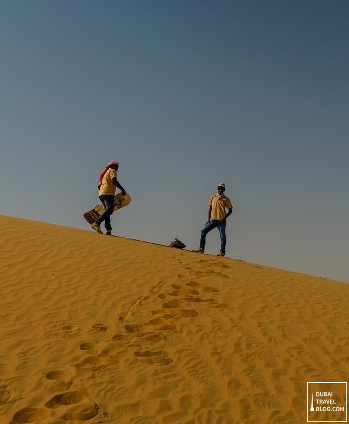sandboarding al faqa desert
