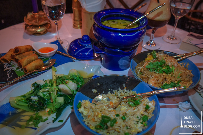 thai food at blue elephant al bustan rotana