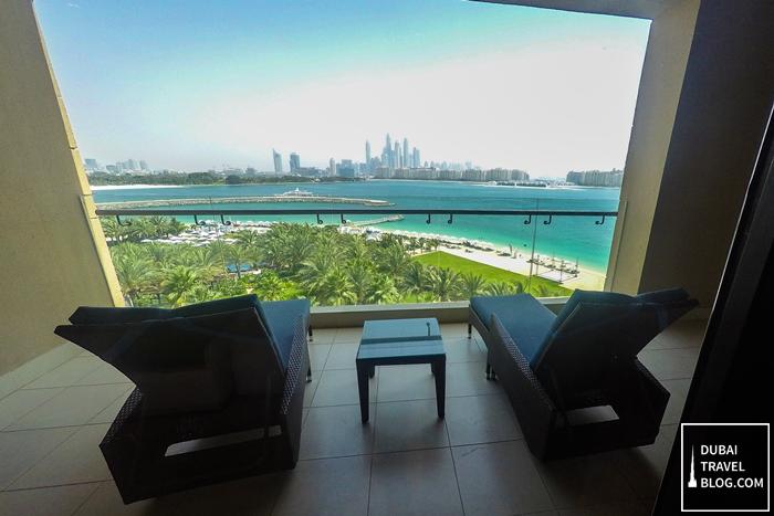 rixos the palm resort balcony view