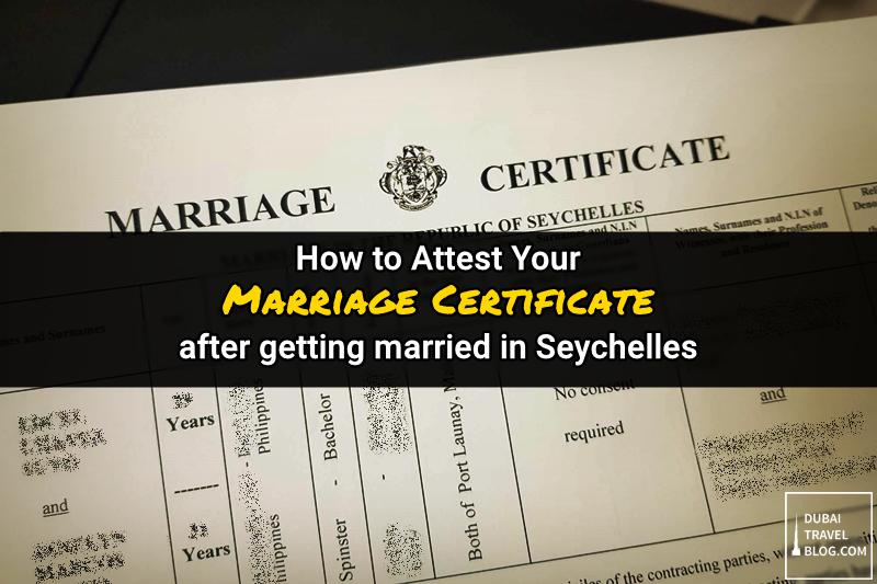 attest marriage certificate uae