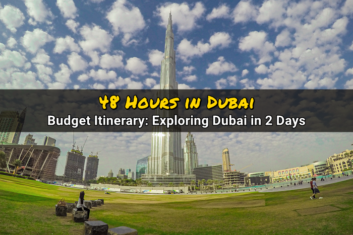 48 hours in dubai travel budget