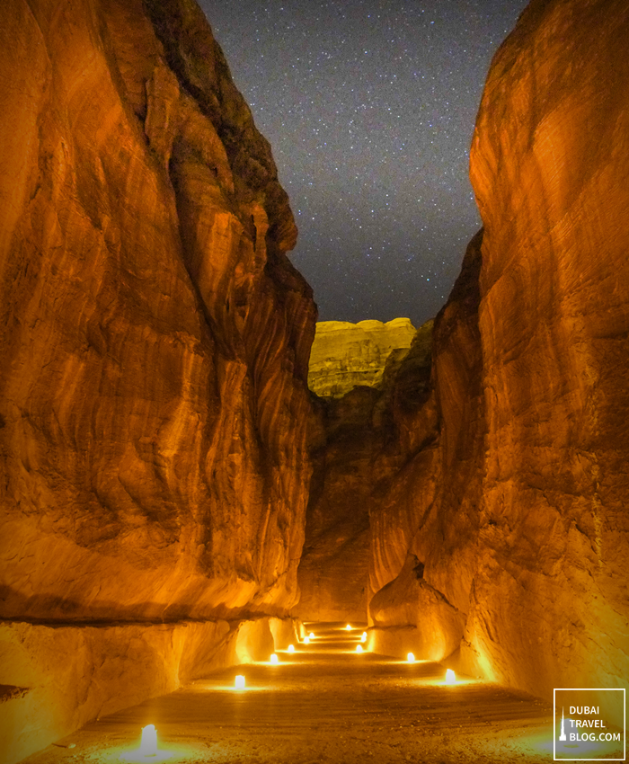 Jordan Petra Night siq