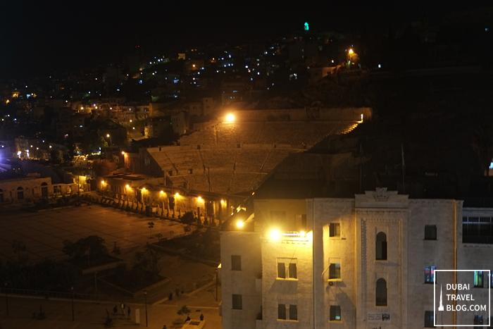 roman theater in jordan amman rooftop view
