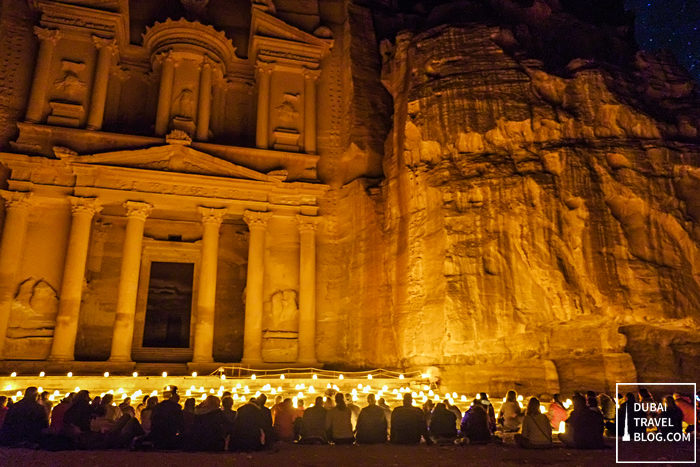 treasury night time petra jordan