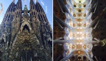 Visiting La Sagrada Familia in Barcelona, Spain