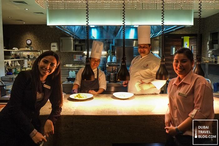 chef Massimiliano and team at marriott al jaddaf