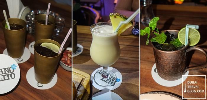 drinks at cubano lito dubai