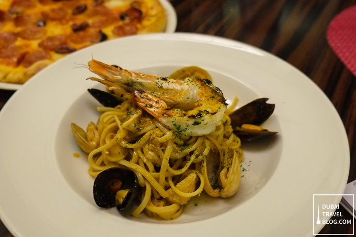 seafood pasta merletto italian restaurant dubai