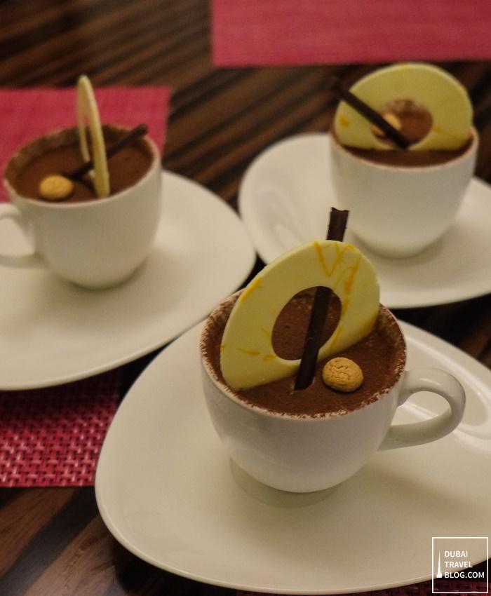 tiramisu dessert merletto restaurant marriott jaddaf