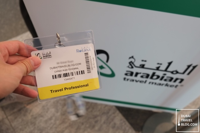 arabian travel market badge